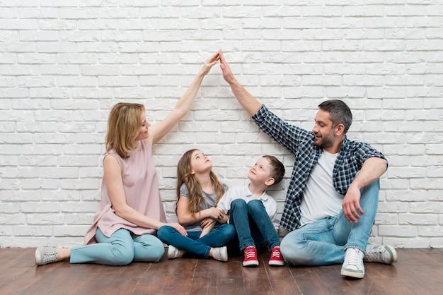 Семья дома Premium Фотографии