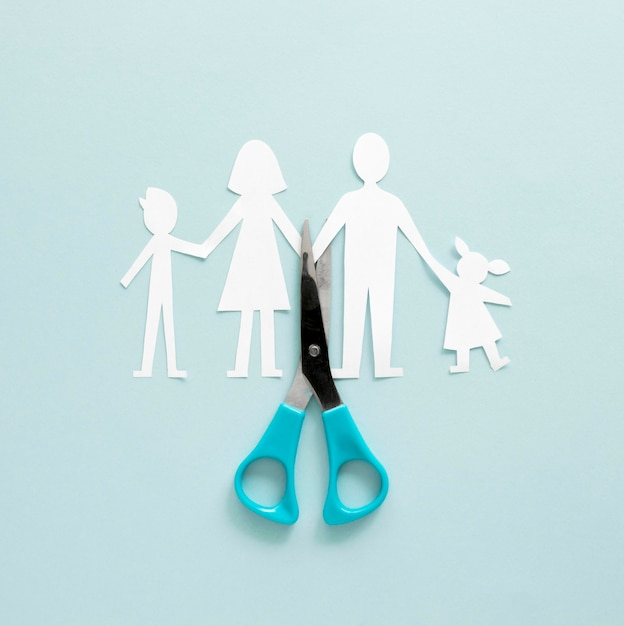 Family divorce paper shape Free Photo