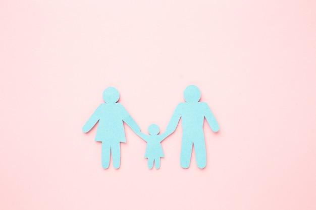 자녀와 함께 가족 그림 개념 무료 사진