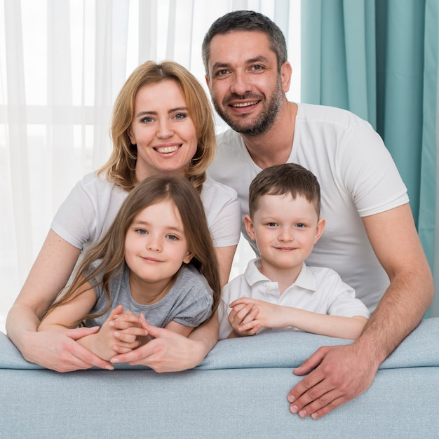 Family at home Free Photo