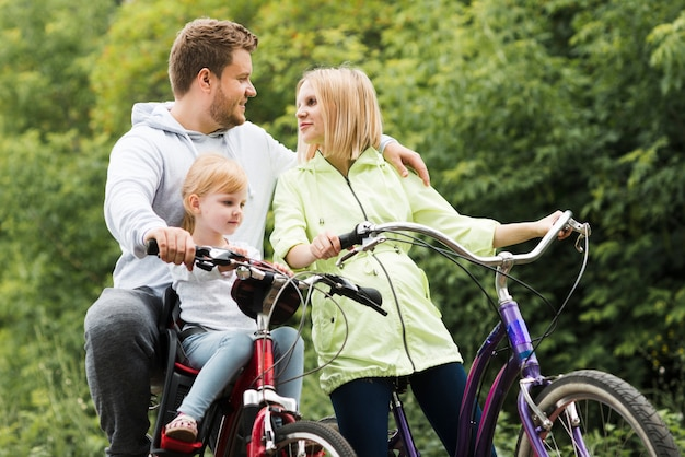 Family time with bicycles Free Photo