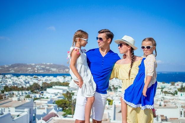 Family vacation outdoors in europe Premium Photo