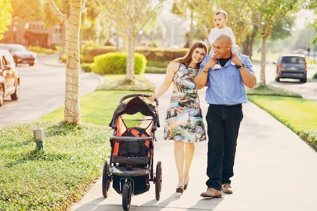 Family on a walk Free Photo