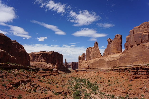 Famous courthouse towers in utah, united states Free Photo