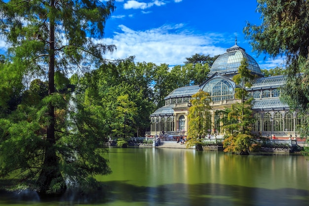 Famous crystal palace in retiro park,madrid, spain. Free Photo