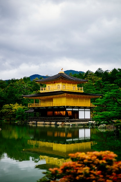 Famous gold temple kyoto japan Free Photo