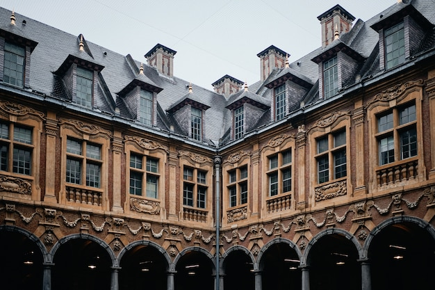 Famous historic vieille bourse in lille in france Free Photo