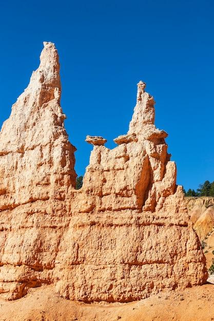 ブライスキャニオンの有名な土柱 無料写真