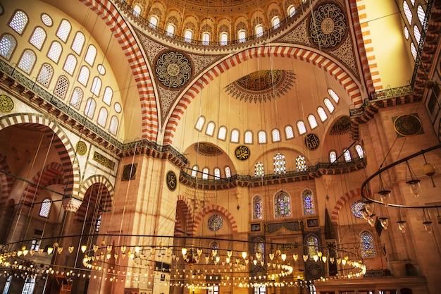 The famous suleymaniye mosque. Premium Photo