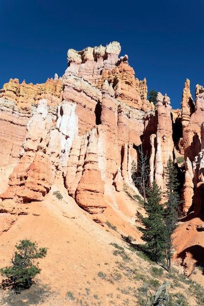 Знаменитый вид на тропу навахо в брайс-каньон, юта Бесплатные Фотографии