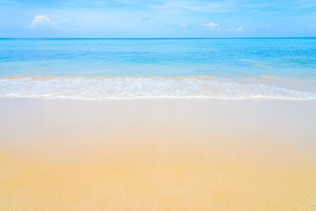 Fantastic beach with blue sea Free Photo