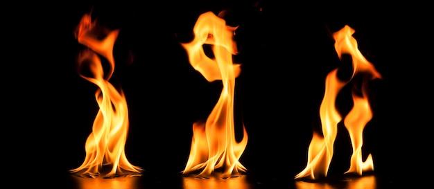 Фантастические огни на темном фоне Premium Фотографии
