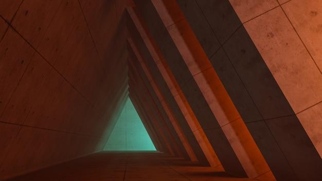 ファンタジー宇宙と宇宙回廊背景、3 dのレンダリング Premium写真