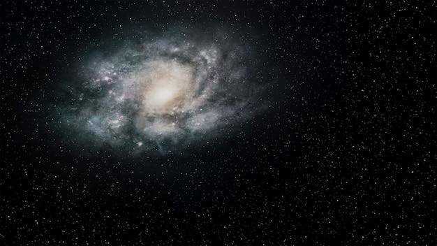 Fantasy universe  space background  ,volumetric lighting. 3d render Premium Photo