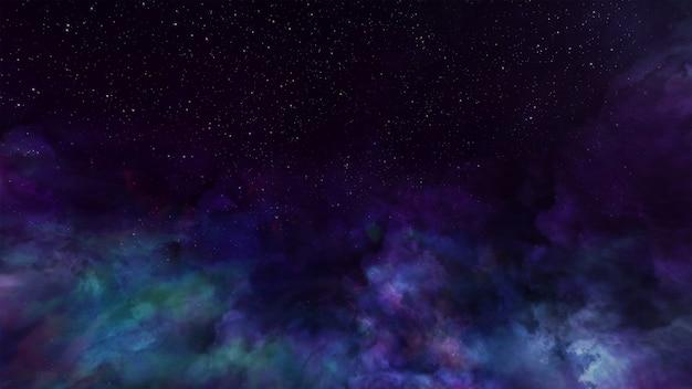 Fantasy universe space background volumetric lighting Premium Photo