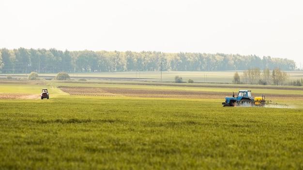 Farm field landscape Premium Photo