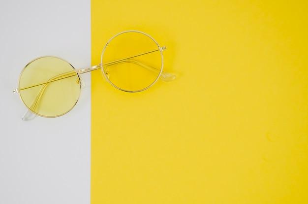 Fashion eyeglasses on colorful background Free Photo