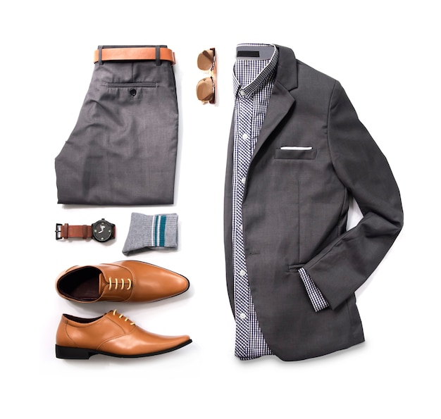 Fashion man business clothes set Premium Photo