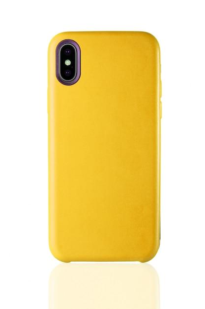 Fashion mobile phone leather cover. Premium Photo