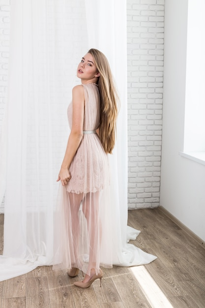 Fashion portrait of beautiful young fair hair woman Premium Photo