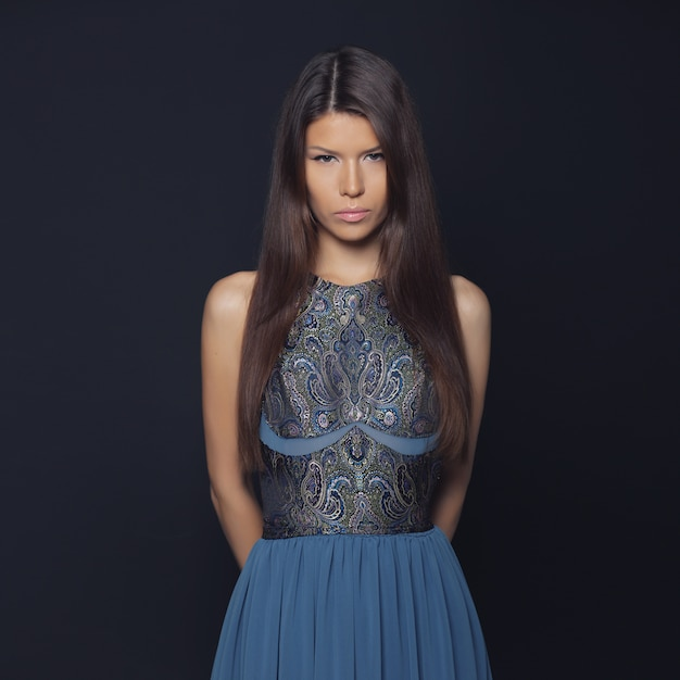 Fashion portrait of elegant woman Free Photo