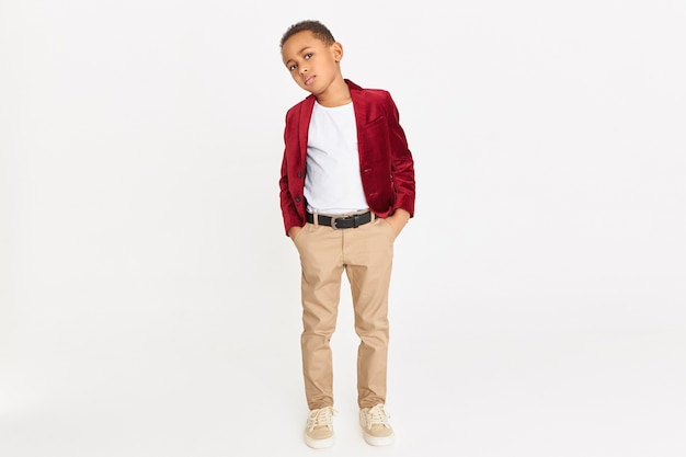 Fashionable child with red blazer Free Photo