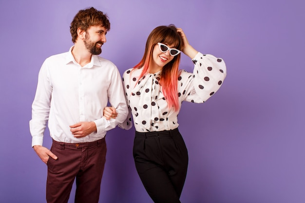 Fashionable couple in love posing Free Photo