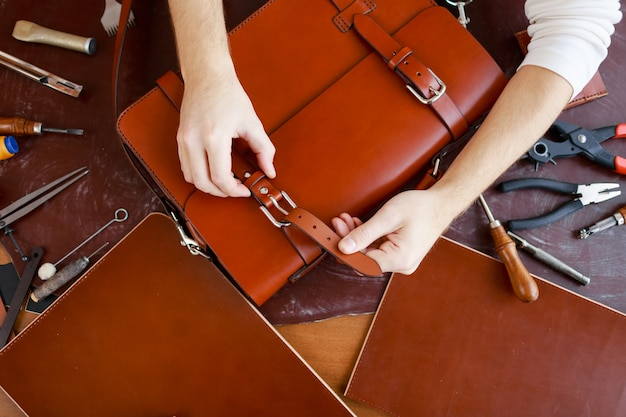 Fastening buckle of briefcase Free Photo