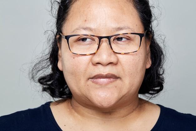 Fat asian women Premium Photo