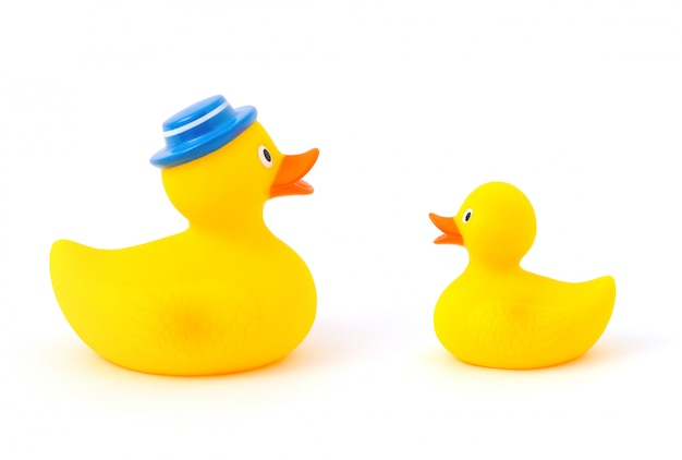 Father and baby rubber ducks Premium Photo