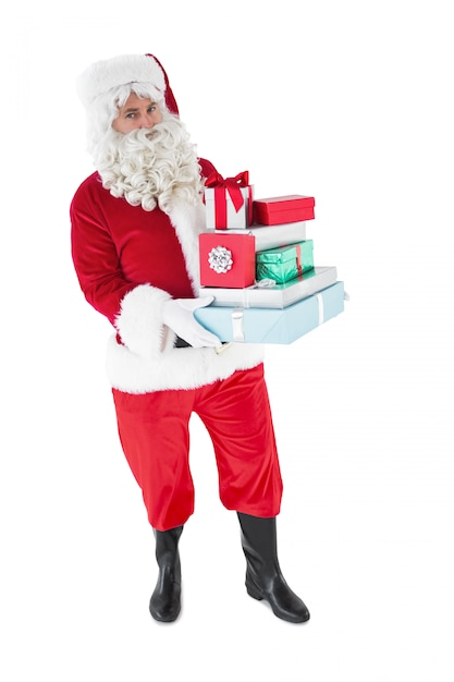 Christmas father with gifts