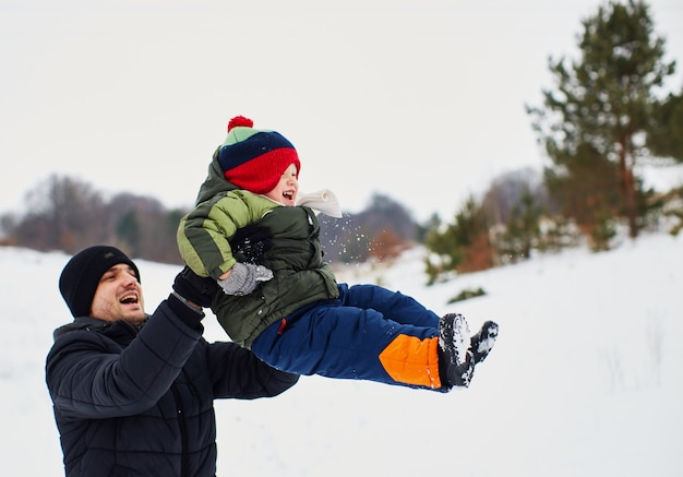 Father is happy to spend time with his child Free Photo