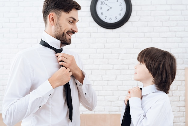 Father and son spend time together. Premium Photo