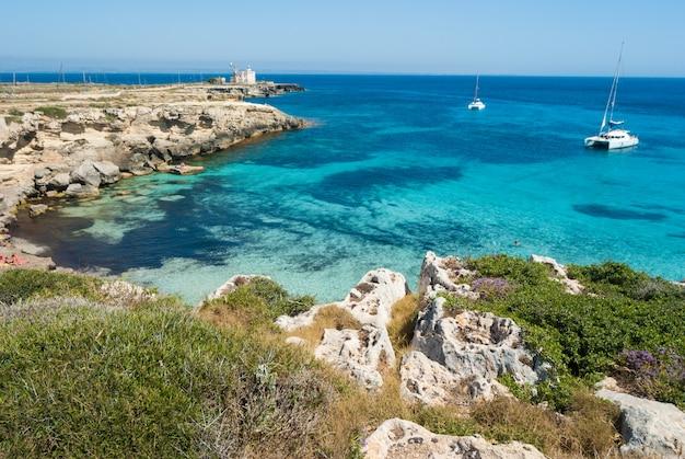 Favignana island.sicily, italy, aegadian Premium Photo