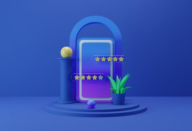 Feedback rating illustration Premium Photo