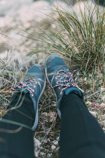 Feet of hiker Free Photo
