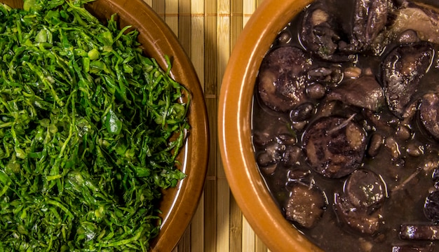 Feijoada brazilian traditional food Premium Photo