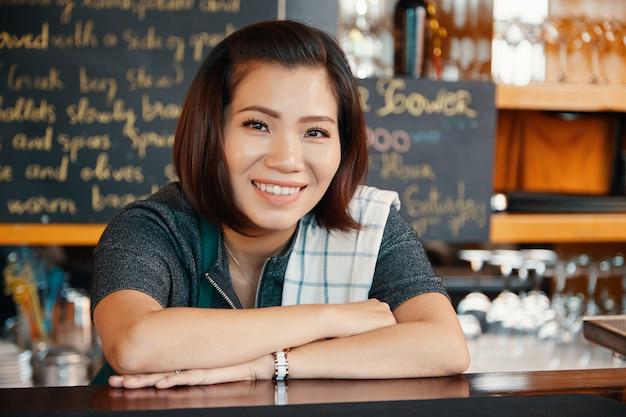 Female bartender Free Photo