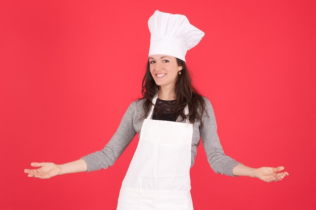 Female chef Premium Photo