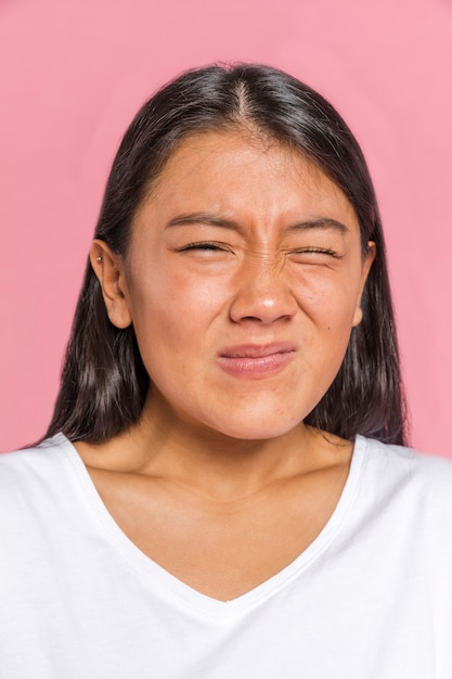 Female face expression showing disgust Free Photo