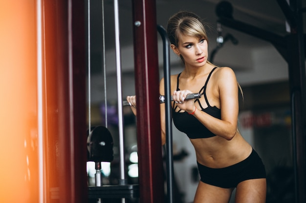 Female fitness trainer at the gym Free Photo