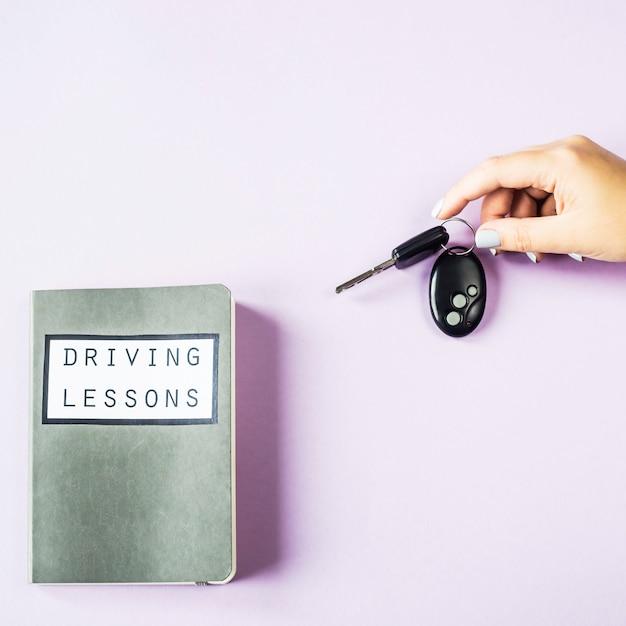 Female hands hold the car keys Premium Photo