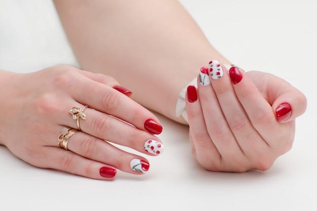 Female hands with manicure Premium Photo
