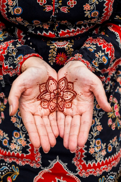 Female hands with mehndi Free Photo