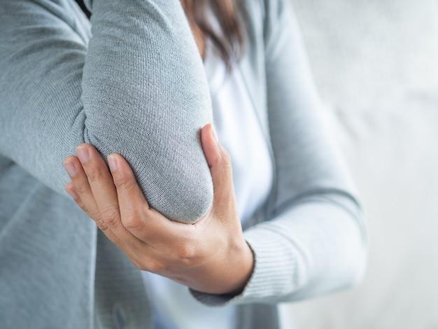Female's elbow. Premium Photo