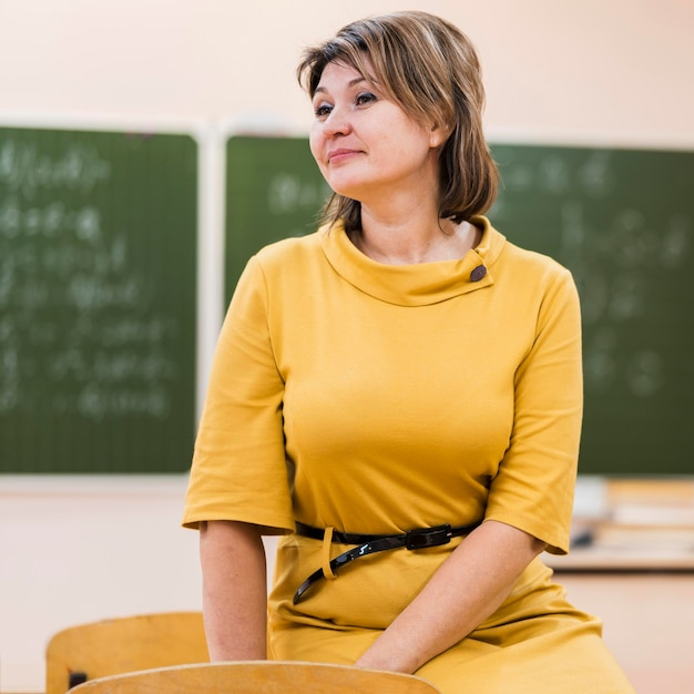 Female teacher standing Free Photo