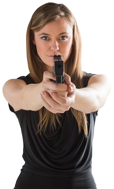 gun Woman pointing