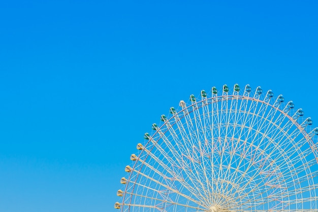 Ferris wheel with blue sky Free Photo
