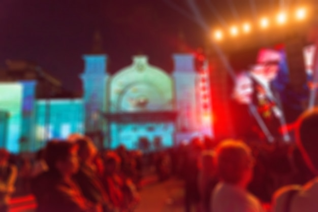 Festival concert show theme blur background Free Photo