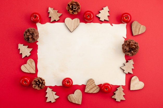 Festive christmas mockup over the red background Premium Photo